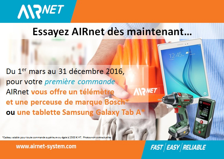 Action commerciale AIRnet