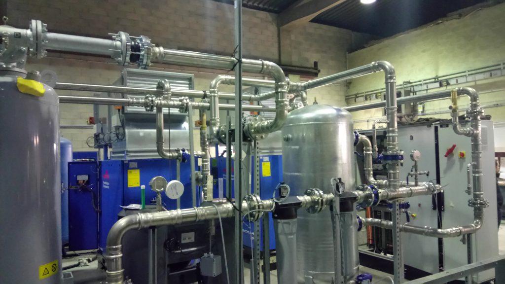 Tuyauterie industrielle inox serti airnet
