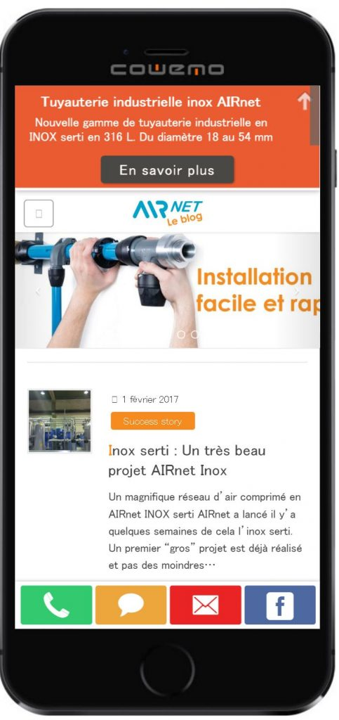 Blog airnet sur mobile et sartphone
