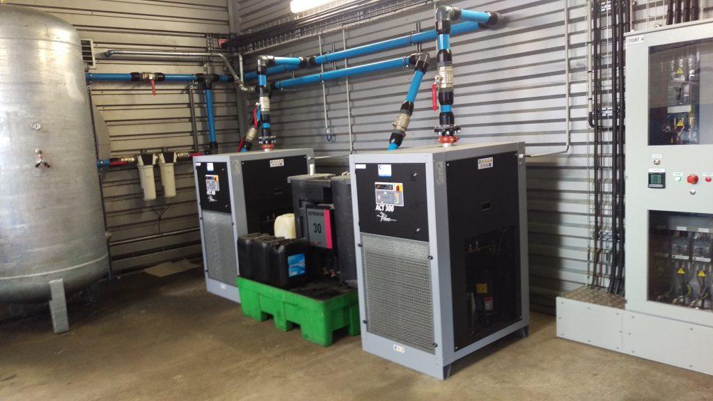 Installation des sécheurs d'air comprimé en D63 AIRnet